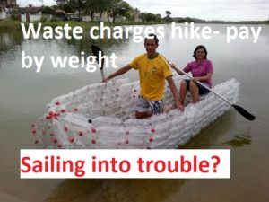 pay-by-weight bin charges ,sailing into trouble with new waste charges for pay by weight